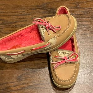 Sperry Top Sider fur lined Boat shoes 7